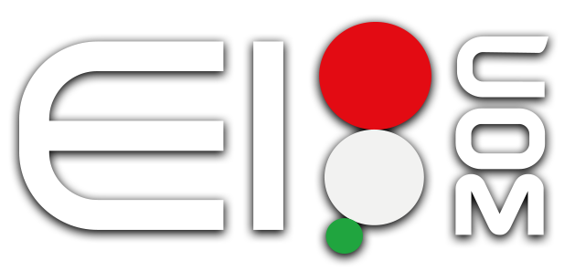 Eicom logo bianco con ombra esterna